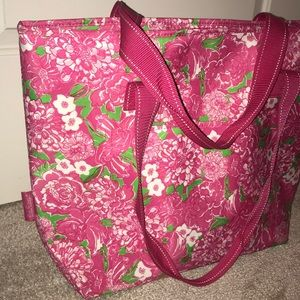 Lilly Pulitzer pink tote bag